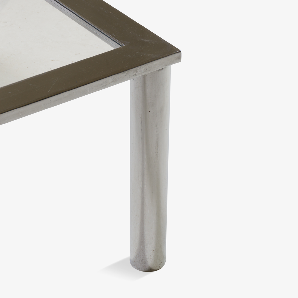 Pace Style Chrome Cocktail Table