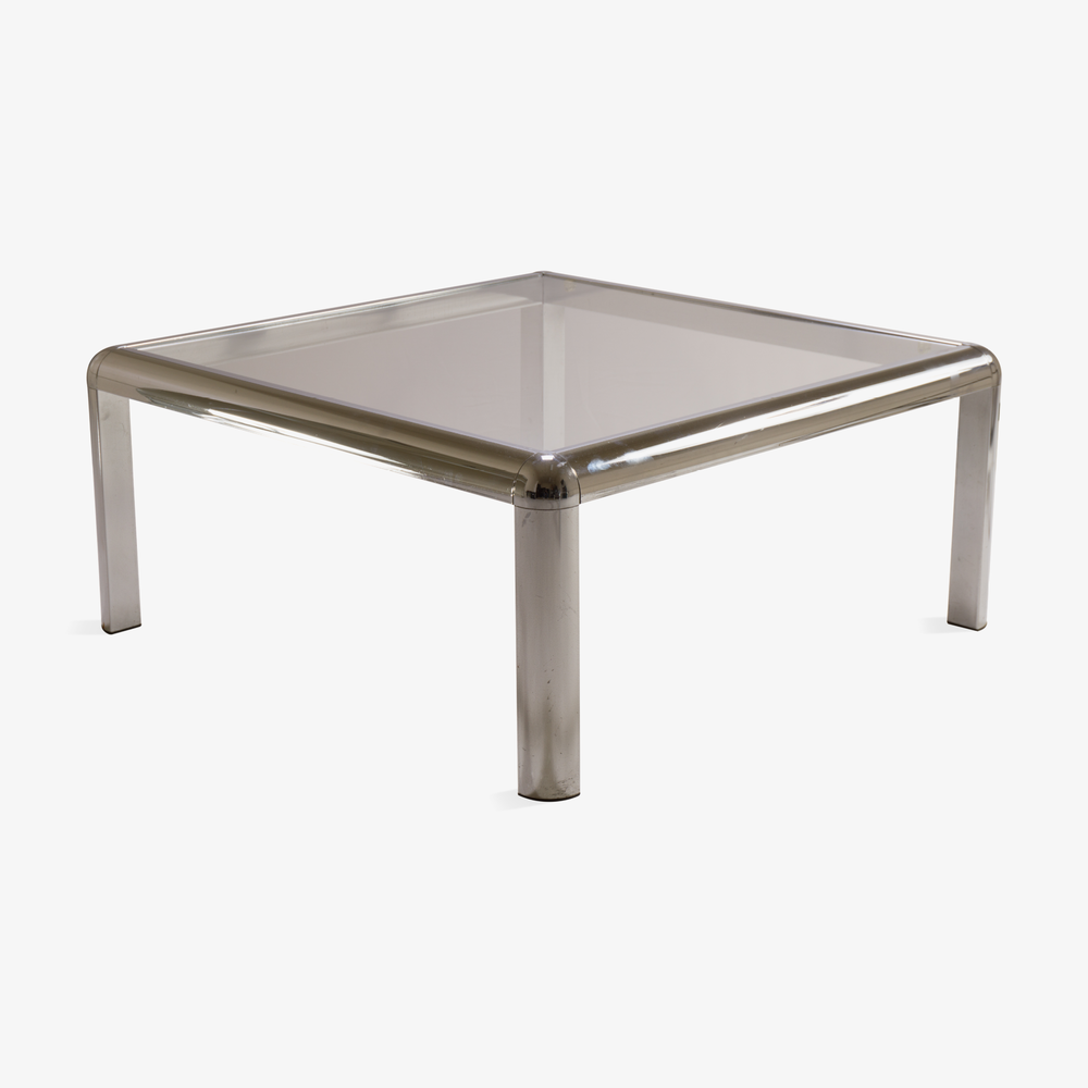 Mid-Century Square Chrome Cocktail Table with Rounded Frame2.png
