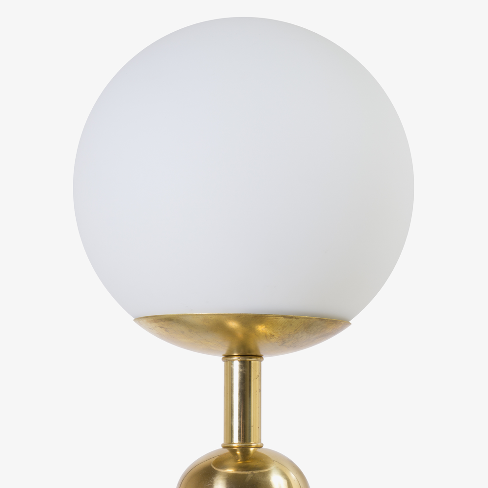 Art Deco Brass Globe Lamps