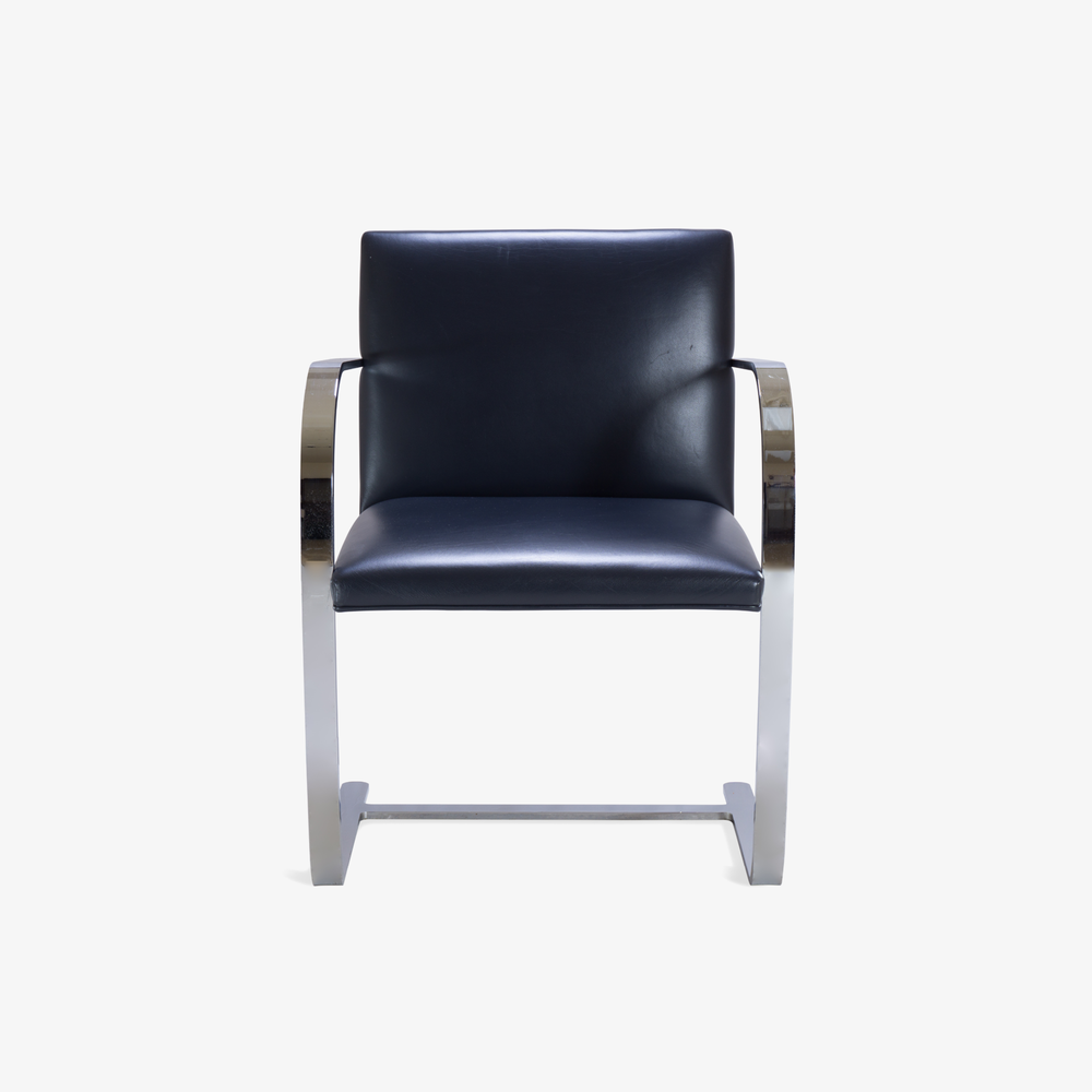 Brno Flat-Bar Chairs in Yankee Navy Blue Leather2.png