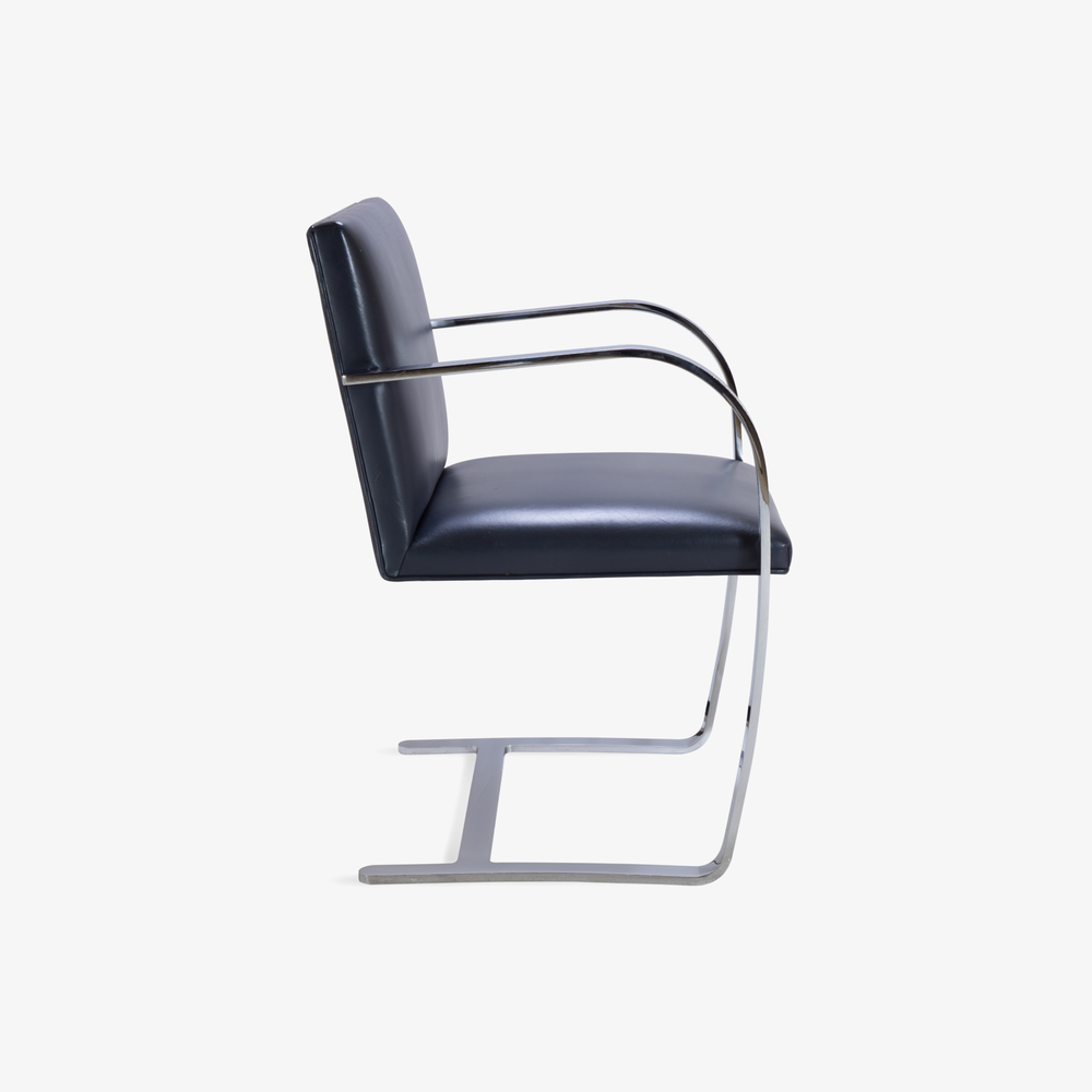 Brno Flat-Bar Chairs in Yankee Navy Blue Leather4.png