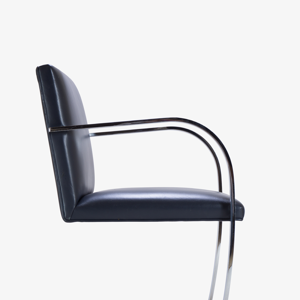 Brno Flat-Bar Chairs in Yankee Navy Blue Leather5.png