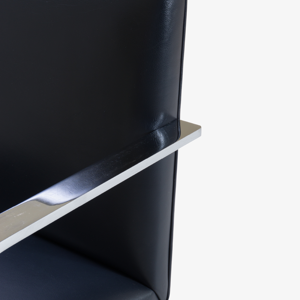 Brno Flat-Bar Chairs in Yankee Navy Blue Leather7.png