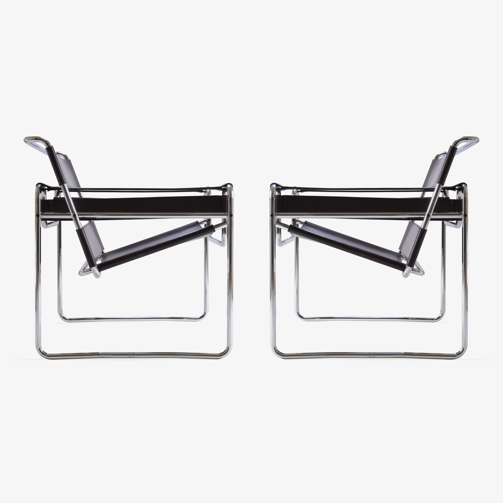 Wassily Chairs in Brown Leather by Marcel Breuer for Gavina2.png