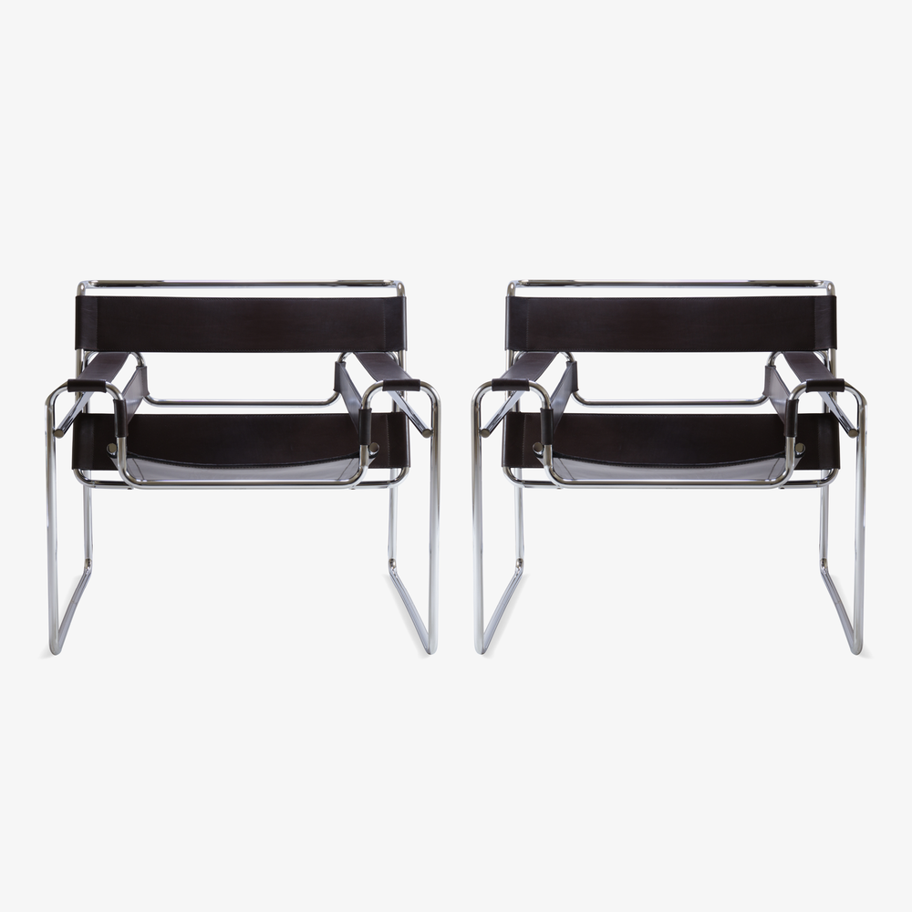 Wassily Chairs in Brown Leather by Marcel Breuer for Gavina.png