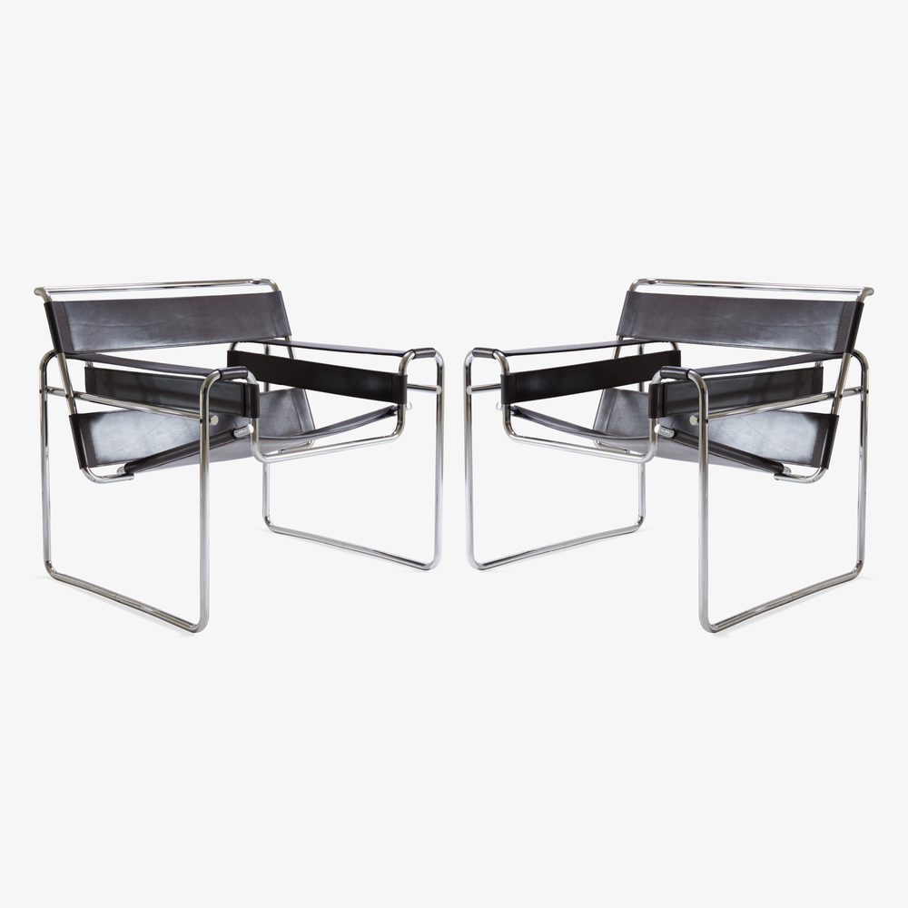 Wassily Chairs in Brown Leather by Marcel Breuer for Gavina3.png