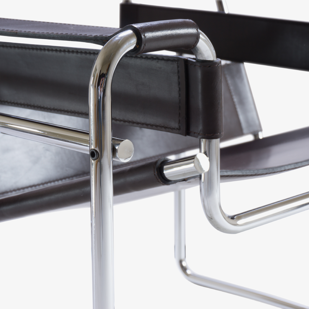 Wassily Chairs in Brown Leather by Marcel Breuer for Gavina4.png