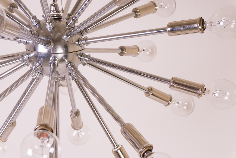 Sputnik Pendant Chandlier in Nickel