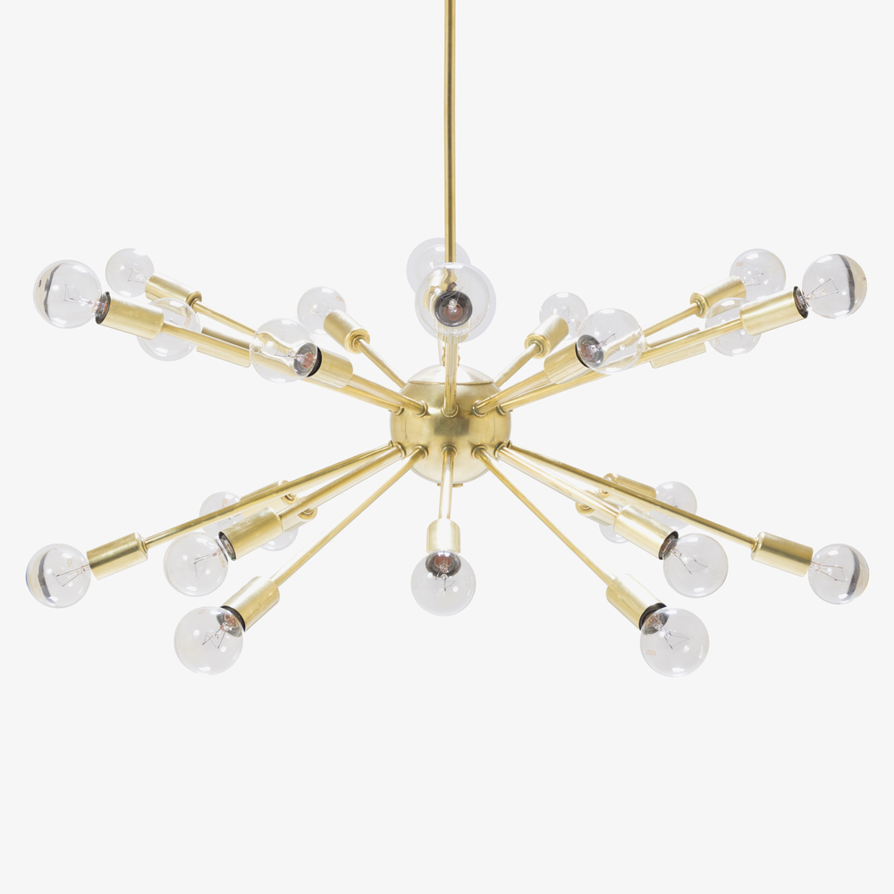 Sputnik Pendant Chandelier in Brass