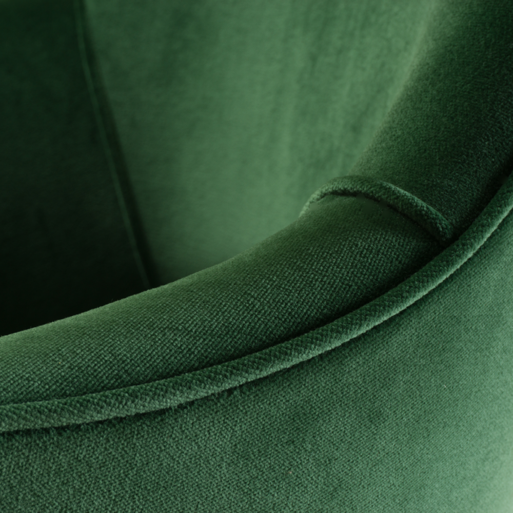 Saarinen Executive Arm Chair in Emerald Velvet, 24k Gold Edition8.png