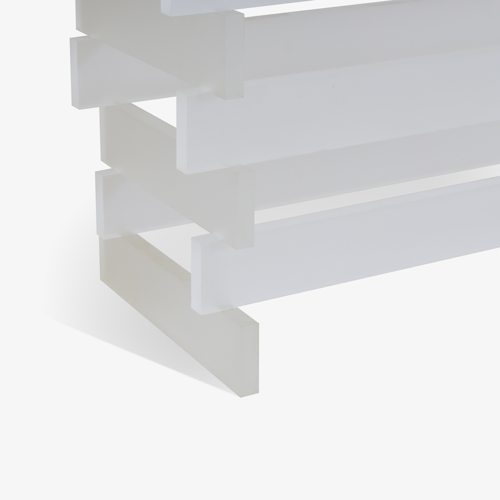 Stacked Frosted Lucite Console with Smoked Glass5.png