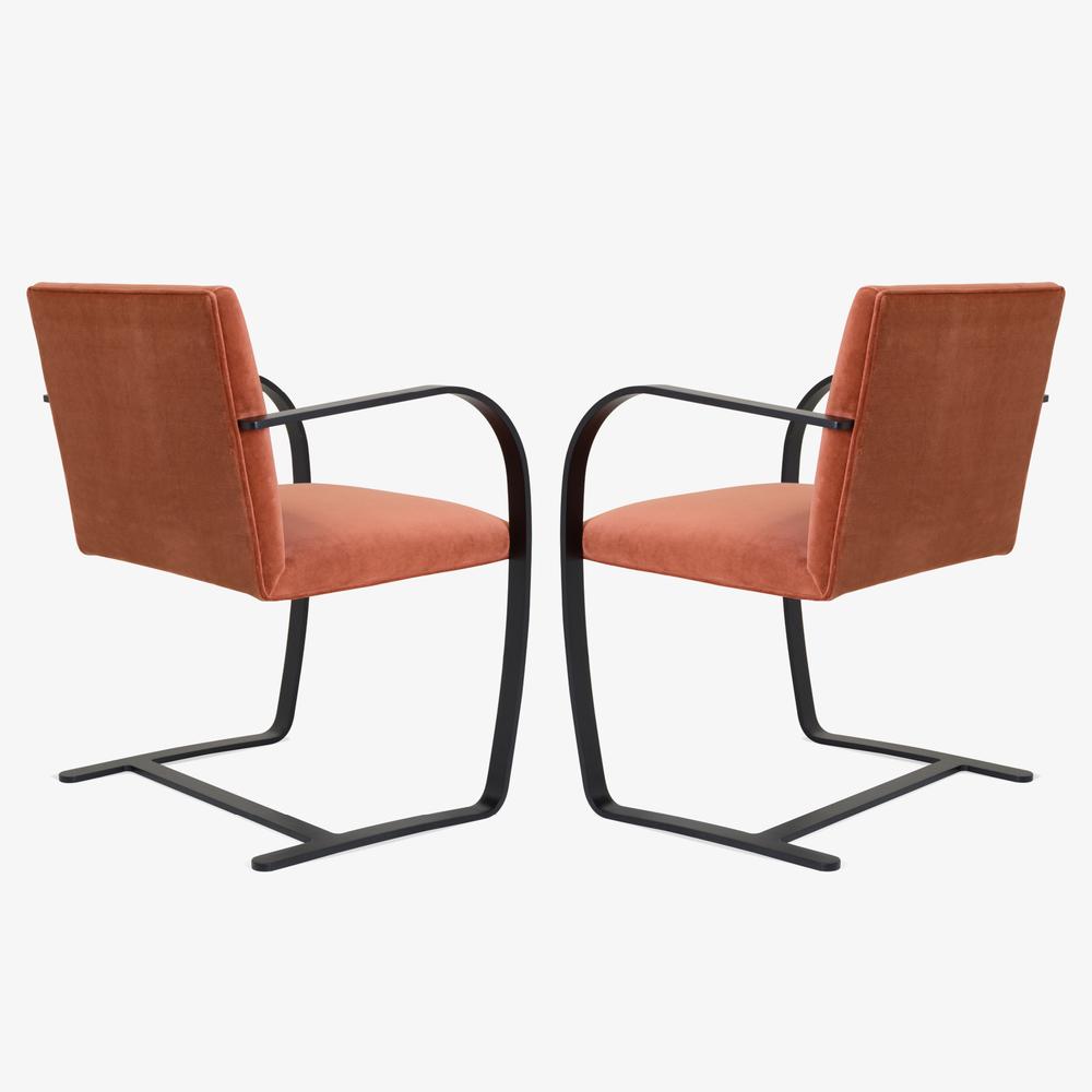 Brno Flat-Bar Chair in Rust Velvet, Obsidian Matte4.png