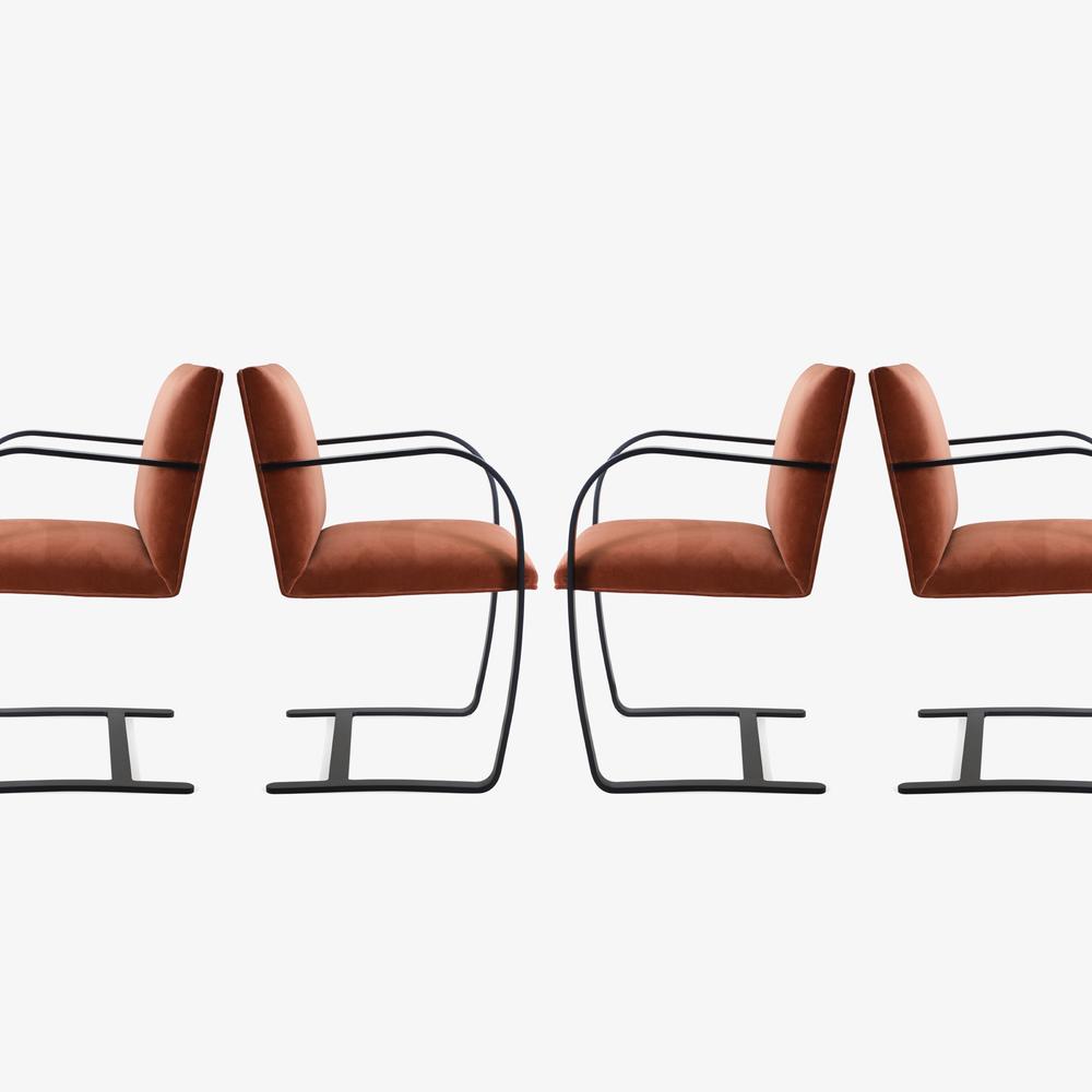 Brno Flat-Bar Chair in Rust Velvet, Obsidian Matte5.png