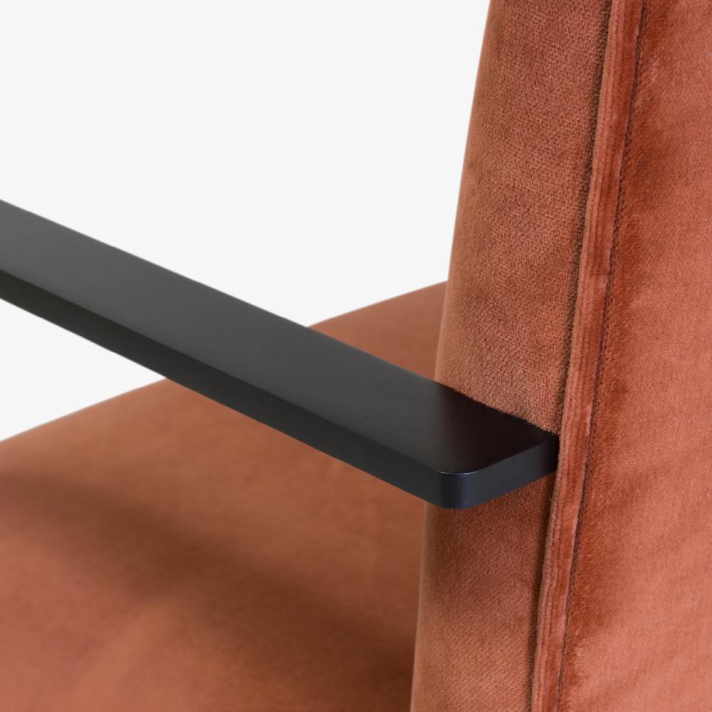 Brno Flat-Bar Chair in Rust Velvet, Obsidian Matte8.png