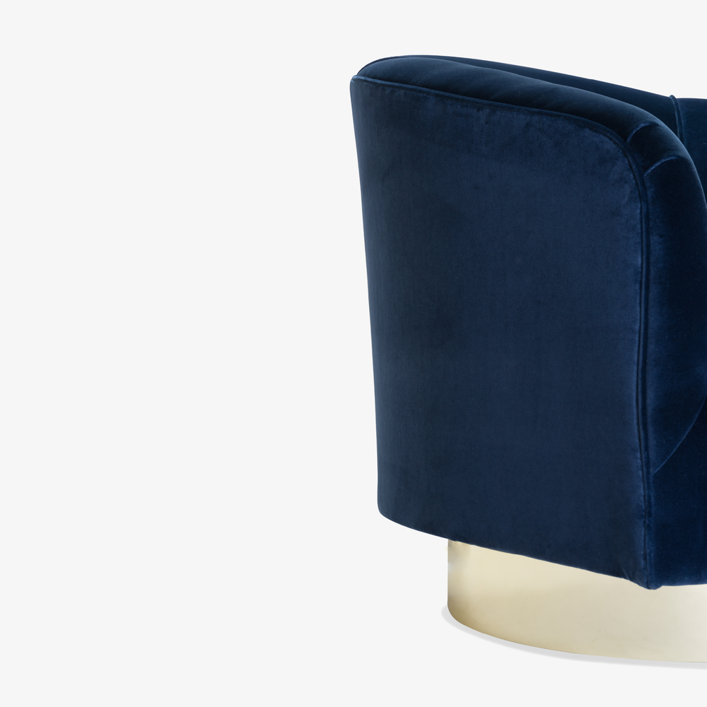 Swivel Tub Chairs in Navy Velvet with Polished Brass Bases, Pair10.png