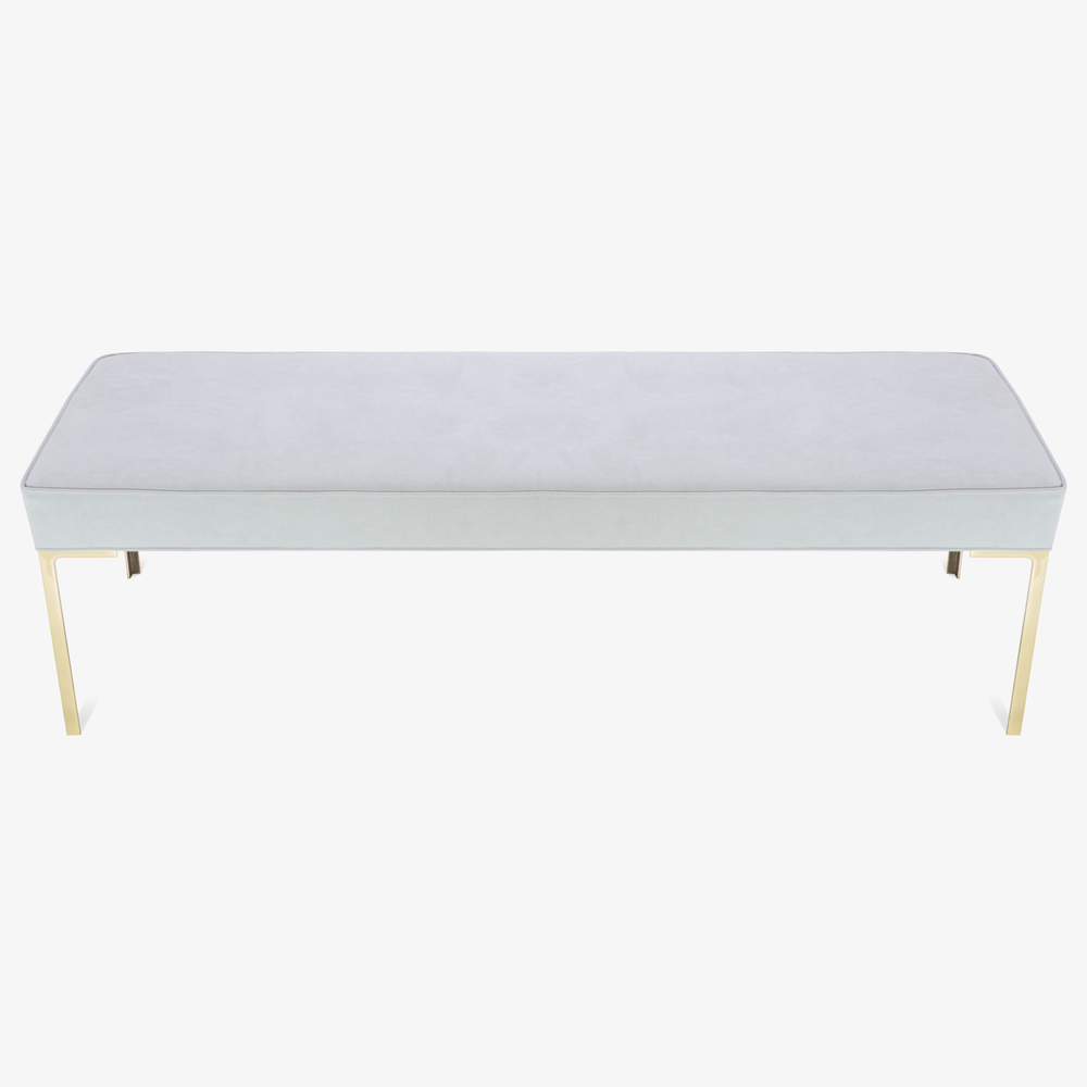 Astor 60%22 Brass Bench in Dove Luxe Suede2.png