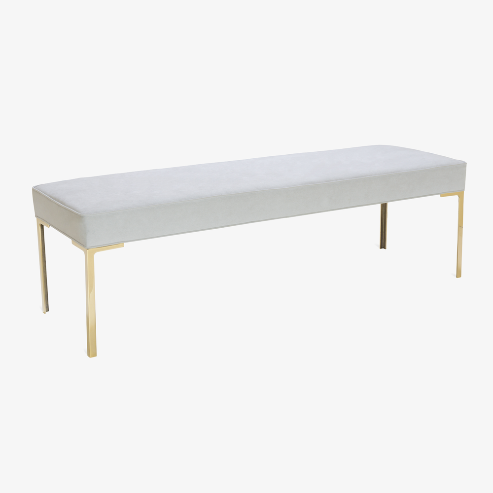 Astor 60%22 Brass Bench in Dove Luxe Suede3.png