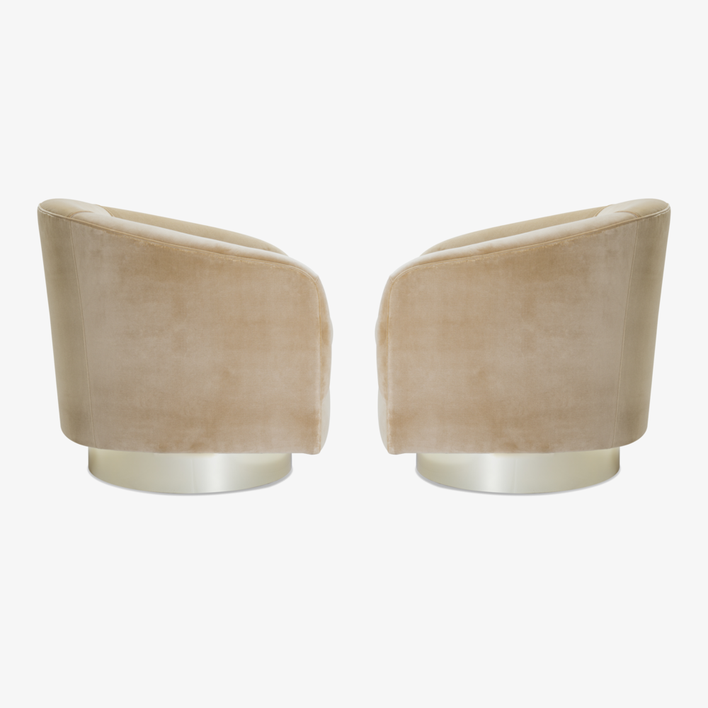 Swivel Tub Chairs with Brass Bases in Camel Velvet3.png