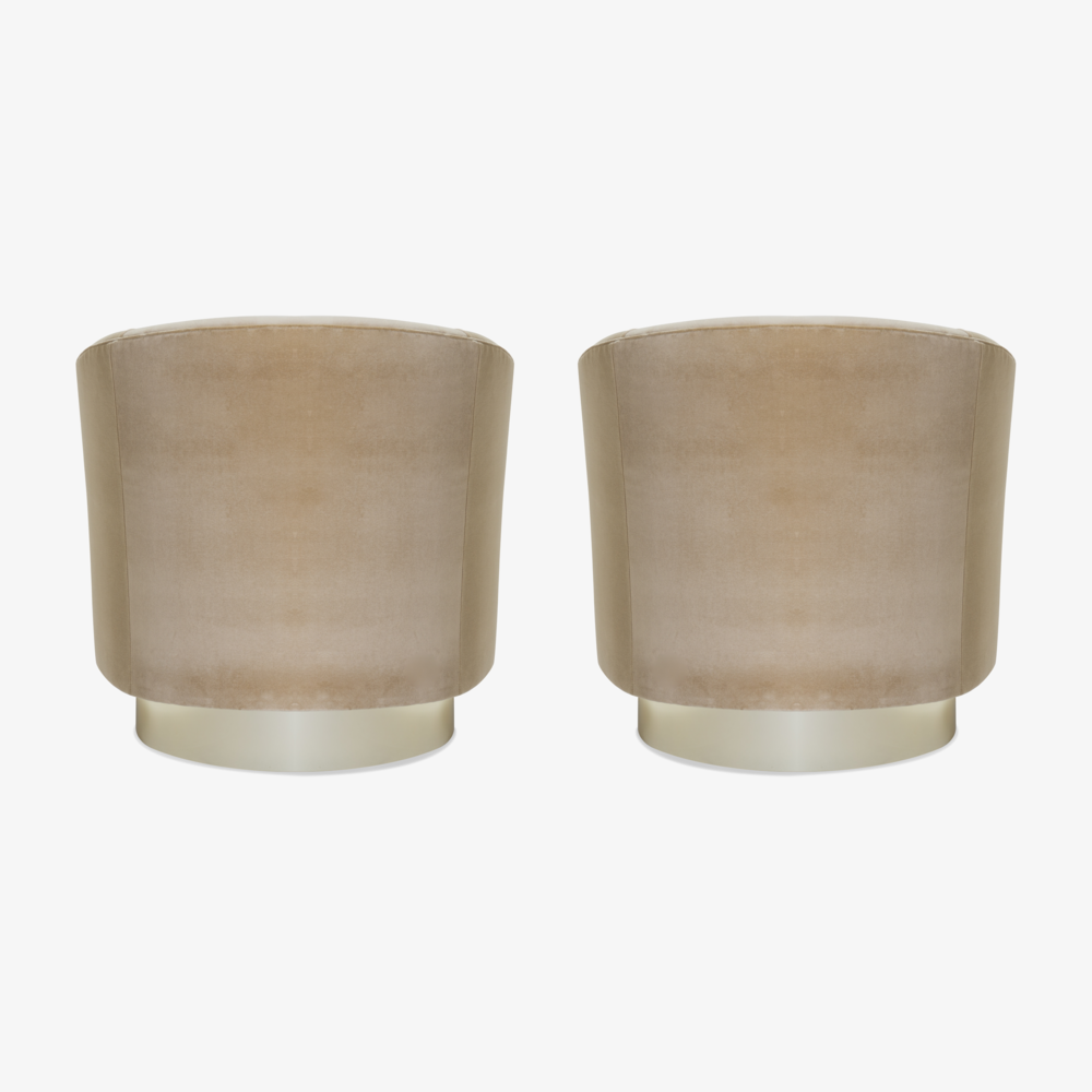 Swivel Tub Chairs with Brass Bases in Camel Velvet5.png
