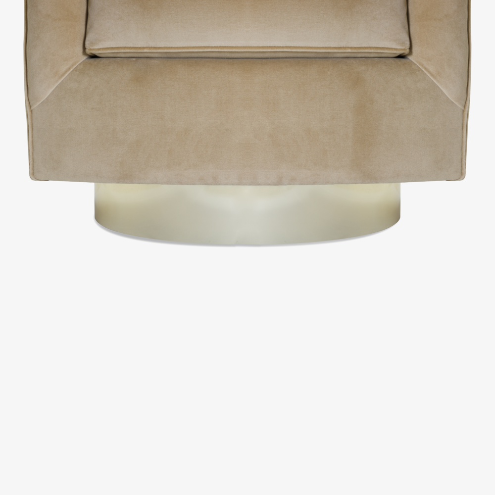 Swivel Tub Chairs with Brass Bases in Camel Velvet9.png