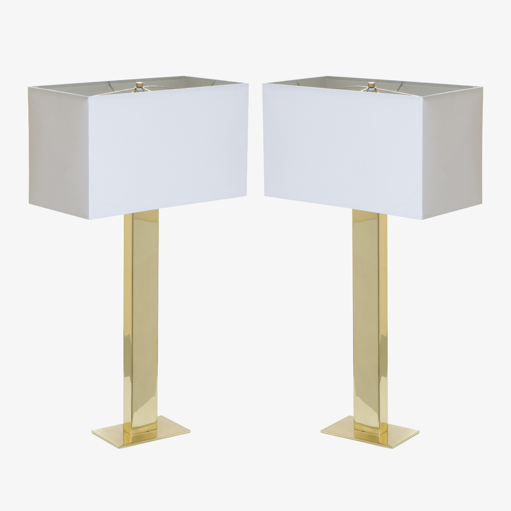 Buffet Lamps in Polished Brass, Pair2.png