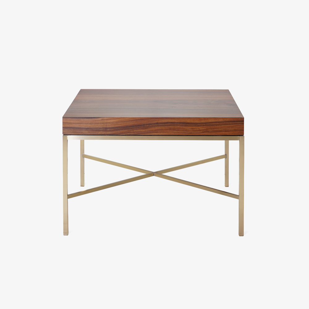 Brass Cross Stretcher Table in Rosewood2.png