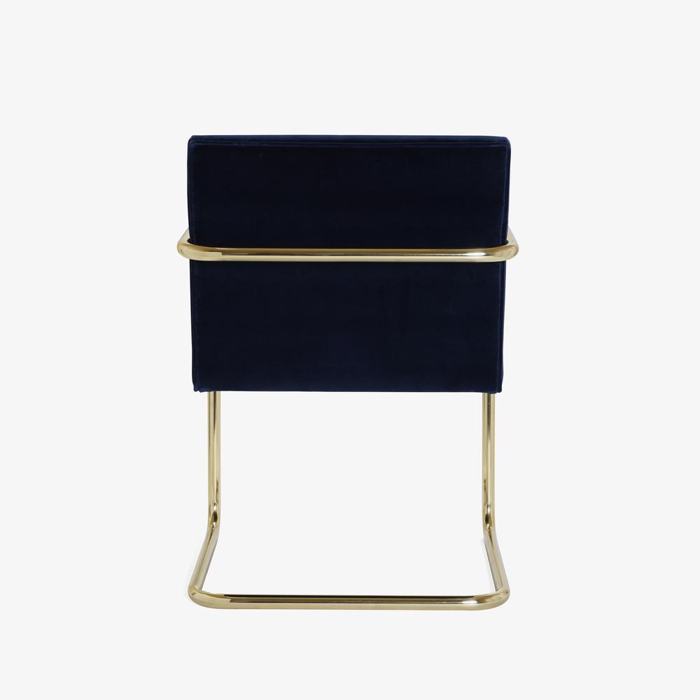 Brno Tubular Chair in Velvet, Polished Brass5.png