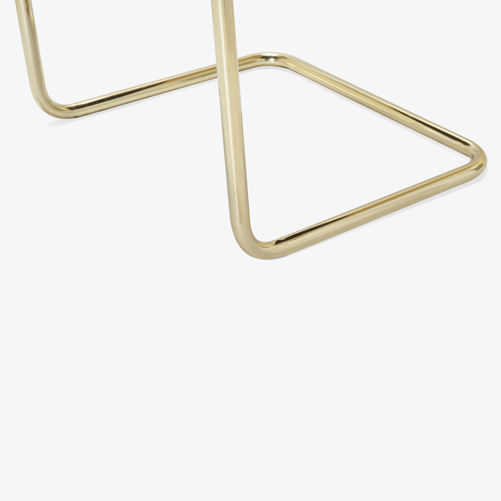 Brno Tubular Chair in Velvet, Polished Brass8.png