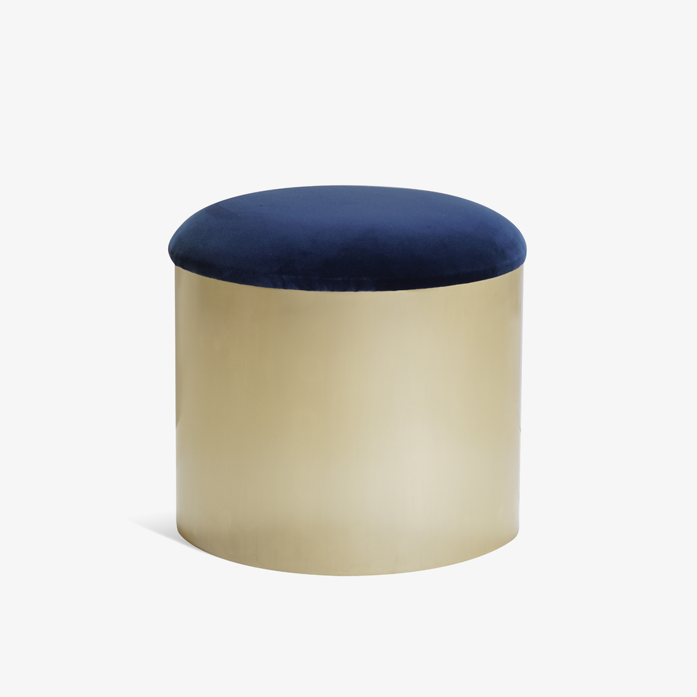 Brushed Brass %22Mushroom%22 Ottoman in Velvet.png