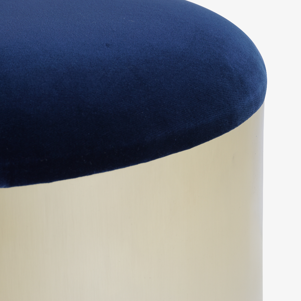 Brushed Brass %22Mushroom%22 Ottoman in Velvet2.png
