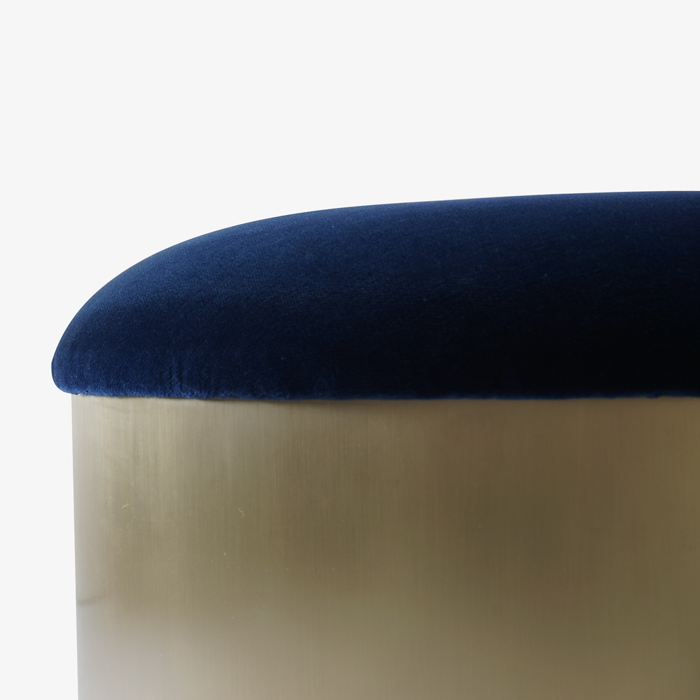 Brushed Brass %22Mushroom%22 Ottoman in Velvet3.png