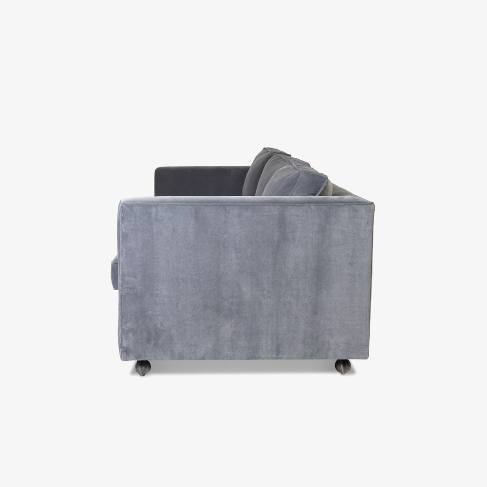 Mid-Century Three Seat Sofa in Grey Performance Velvet3.png