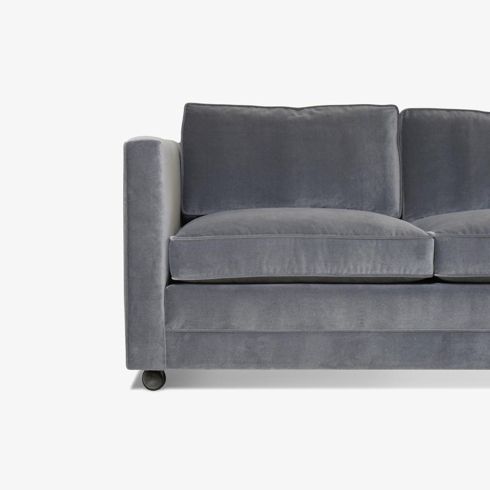 Mid-Century Three Seat Sofa in Grey Performance Velvet6.png