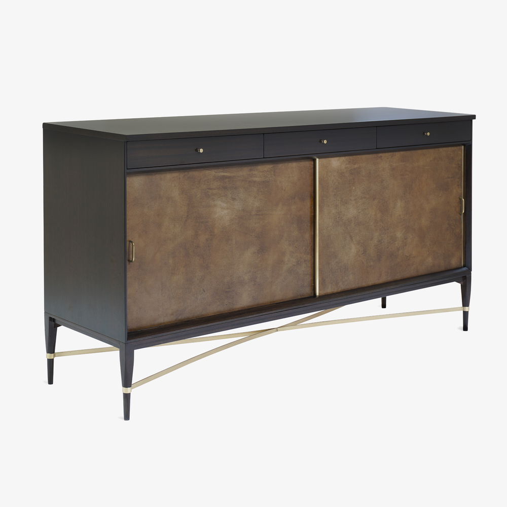 Walnut & Brass Cross Stretcher Credenza by Paul McCobb for Calvin Group2.png