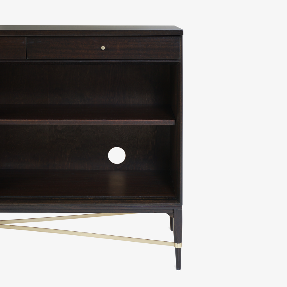 Walnut & Brass Cross Stretcher Credenza by Paul McCobb for Calvin Group7.png