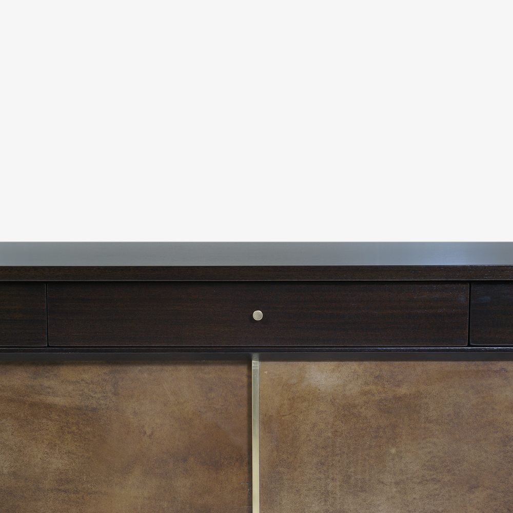 Walnut & Brass Cross Stretcher Credenza by Paul McCobb for Calvin Group5.png