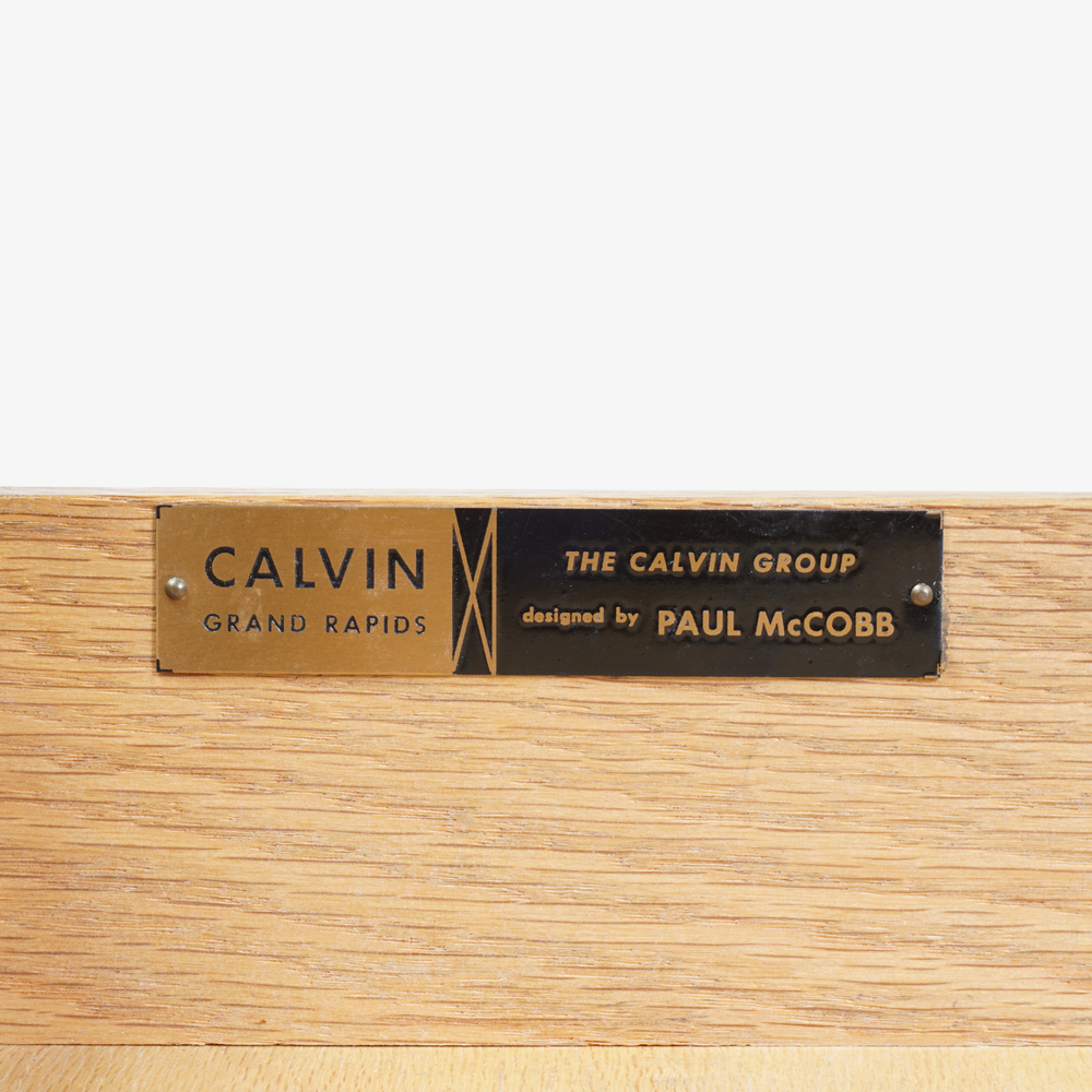 Walnut & Brass Cross Stretcher Credenza by Paul McCobb for Calvin Group10.png