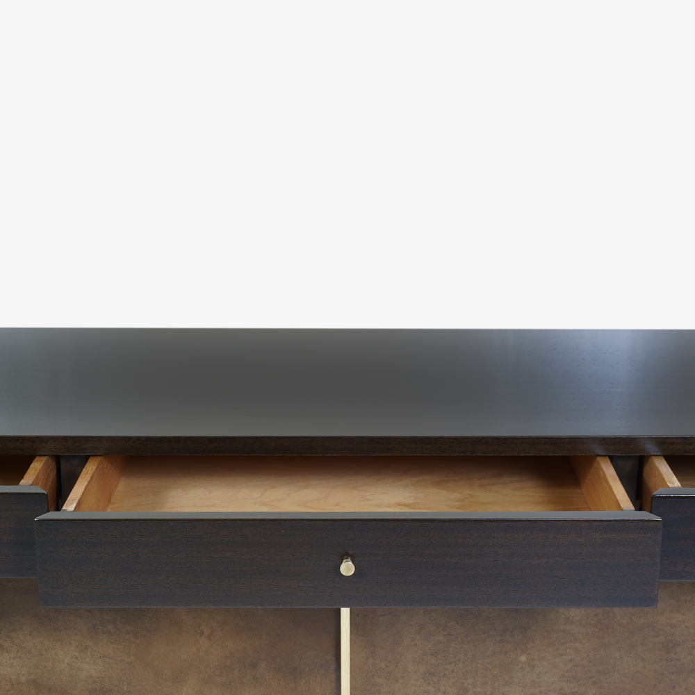 Walnut & Brass Cross Stretcher Credenza by Paul McCobb for Calvin Group6.png