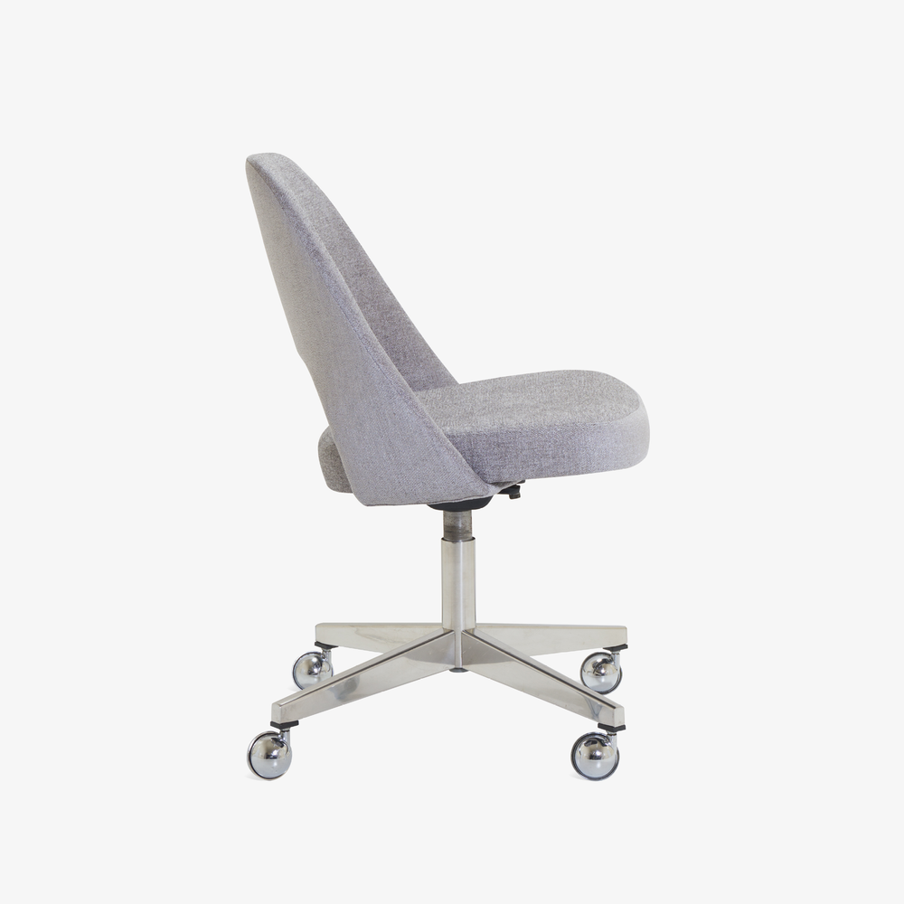 Saarinen Executive Armless Chair in Maddison Bouclé, Swivel Base2.png