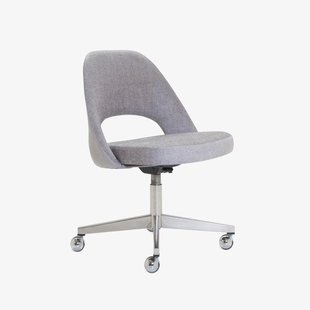 Saarinen Executive Armless Chair in Maddison Bouclé, Swivel Base.png