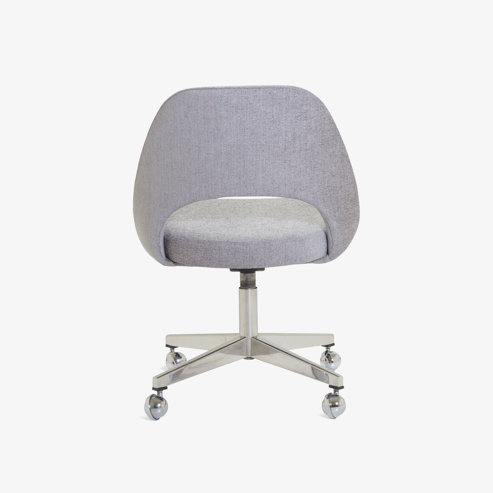 Saarinen Executive Armless Chair in Maddison Bouclé, Swivel Base5.png