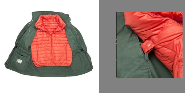 Doublure orange en duvet pour les plus frileux– Bon ok : pour les plus observateurs vous aurez noté qu'il ne s'agit pas d'une M65, mais peu importe