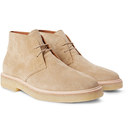 common project desert boots suede