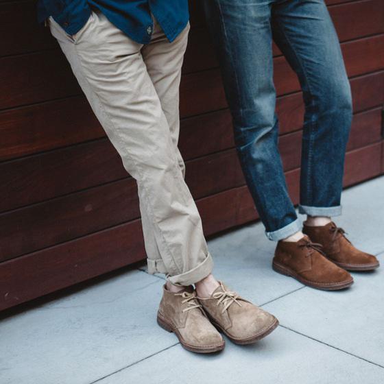 astorflex boots desert cuir semelles latex jean