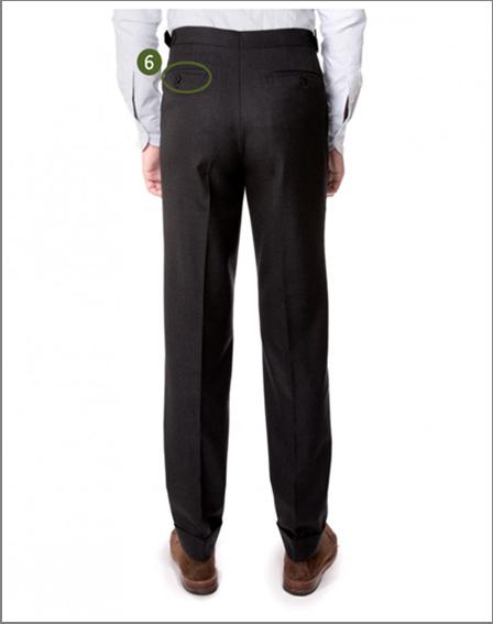 Pantalon en flanelle de laine de chez Drake's