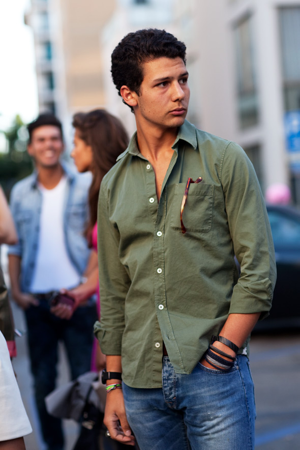 chemise verte button down onxford