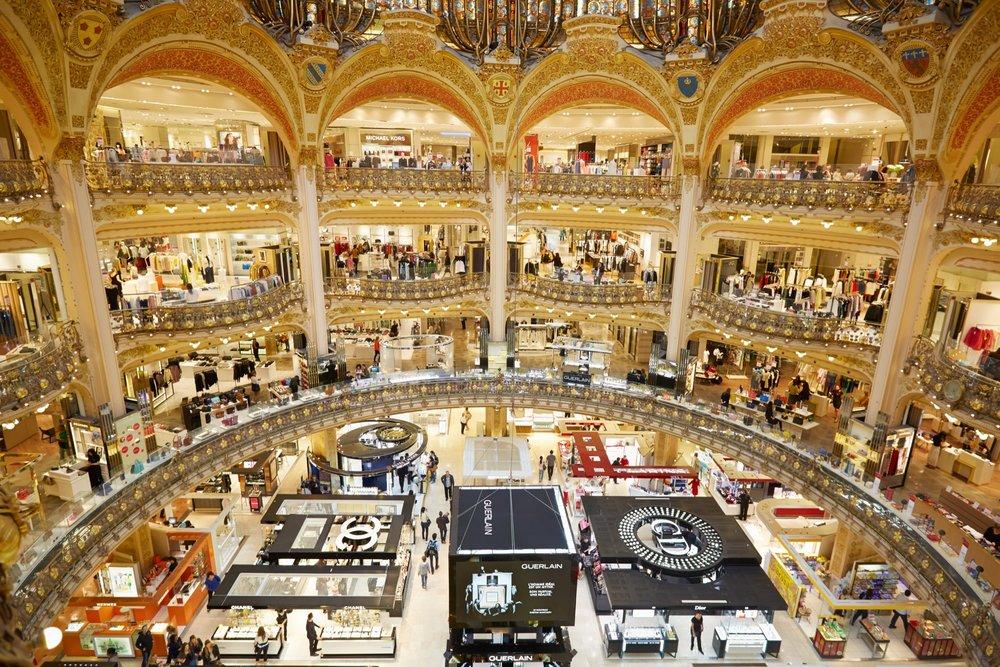 galeries lafayettes paris luxe mode