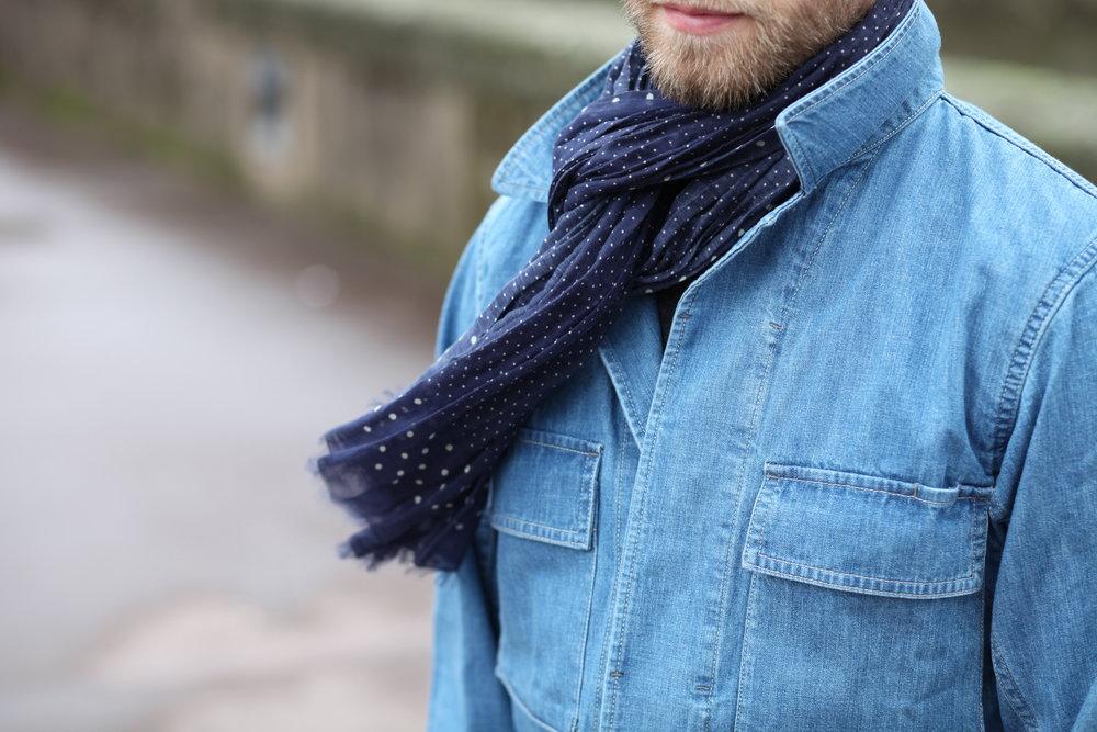 veste uniqlo bleu travail militaire printemps 4 poches