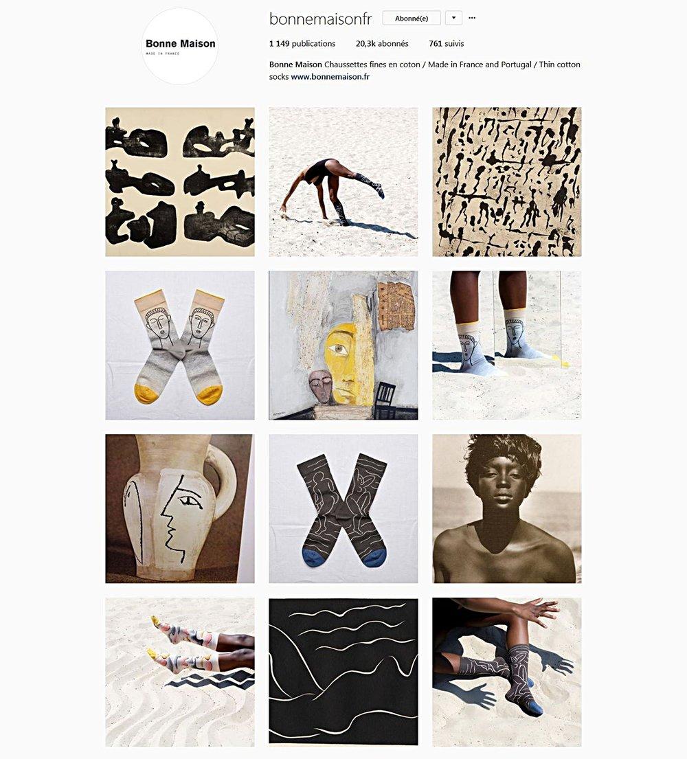 bonne maison chaussettes instagram
