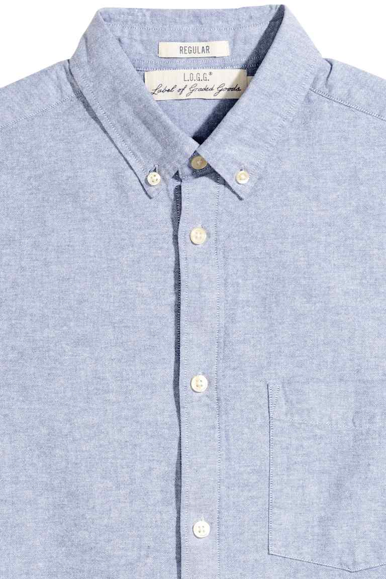 chemise oxford coton pas cher BLEU.jpg